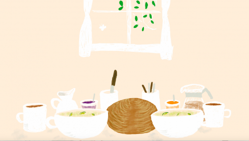 ハレの朝の食卓
